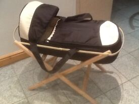 £10 a set-carrycot and Moses basket stand-I have 3 sets available-any set is £10 for carrycot &stand
