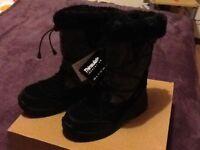 Hi-Tec Glencoe, Women's Snow Boots, Black/Graphite/Magenta