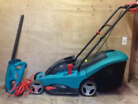 Bosch electric Lawnmower & Hedge Trimmer