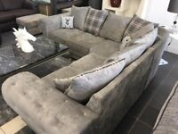 BEAUTIFUL LUXURY VERONA CHESTERFIELD CORNER SOFA IS AVAILABLE IN NEW STOCK