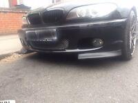 BMW E46 Msport Front Bumper Clubsport Splitters