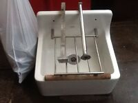 Armitage shanks clears sink with waste and legs