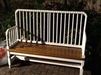 Upcycale garden bench