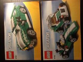 Lego creator Street speeder 3 in 1 set plus mini creator 3 in 1 construction set