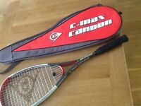 Dunlop C-Max Carbon Squash Racket with case