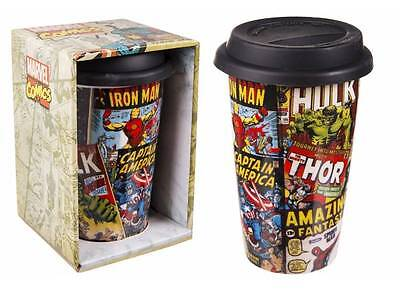 Tazza da viaggio in ceramica Retro Marvel Comics Travel Mug 15 cm Pyramid