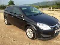 VAUXHALL ASTRA LIFE 1.7 CDTI 100 5 DOOR MANUAL HATCHBACK IN BLACK 2007 WITH 138K AND 10 MONTHS MOT