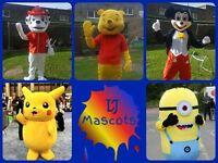 Mascot hire, MARSHALL Paw Patrol, Minion, Mickey Mouse etc