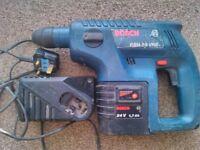 Bosch 24v sds battery drill.