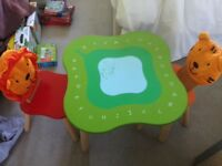 Children's Table and Chairsx 2