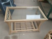 Ex- Display Cane Coffee Table