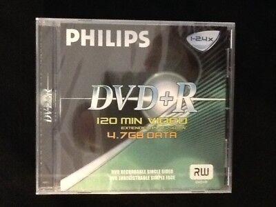 FOUR PHILIPS DVD+R RW 4.7 GB DISCS