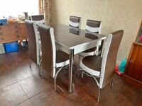 🍒🔥🔥PURCHASE BEFORE THE OFFER ENDS🔥🔥ON FIERY EXTENDABLE DINING TABLE WITH 6 CHAIRS
