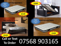 BED BRAND NEW DOUBLE TV BED MATTRESS DOUBLE KING FAST DELIVERY 73679