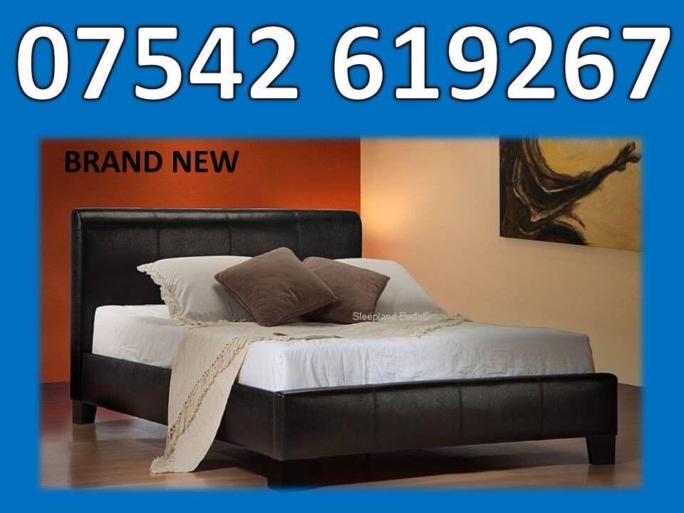 Double Leather Bed Frame Mattresses Can Deliver In Middlesbrough
