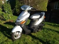Baotian BT50qt 50cc 4 stroke moped scooter only 288km!!! Vclic v clic speedfight