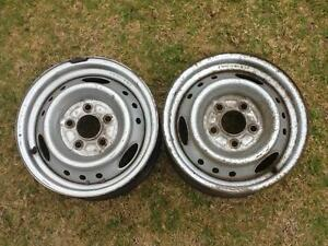 "Two 14"" x 5.5 Steel rims with 5 x 114.3 Stud pattern. $20 for bot Prestons Liverpool Area Preview"