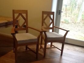 Barker and Stonehouse Oak carver dining chairs