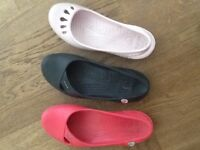 3 pairs CROC shoes - LIKE NEW