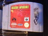 n64 nintendo 64 game mission impossible