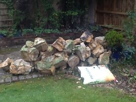 Lovely sandstone rocks for rockery or to edge a pond - just £40