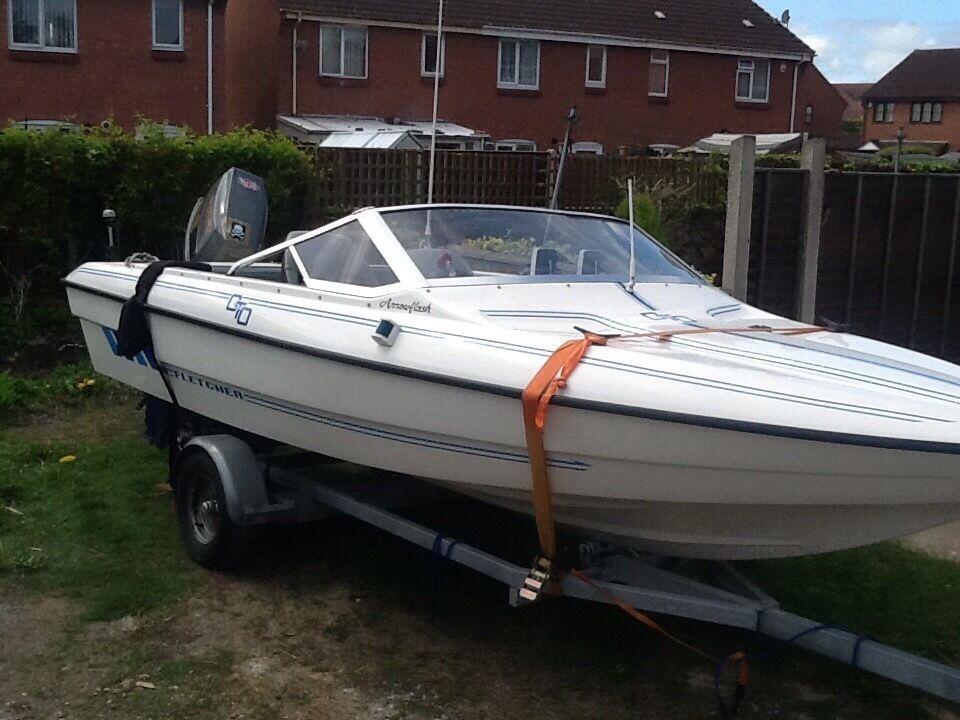 Fletch 16ft speedboat