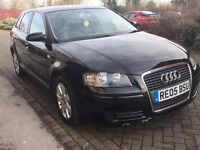 Audi a3 in black for sale Tdi !!!Reduced to £1500