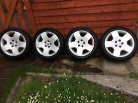 Alloys wheels and tyres . Had these on my Astra VXR 09 plate