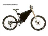 1500W Fast Electric Bike, 35mph+, 48v, 29AH Battery, Full Suspension, Enduro Ebike