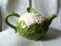 Vintage Fitz and Floyd Cauliflower Teapot