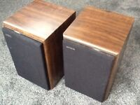 Aiwa LM6 Speaker Pair in Walnut finish