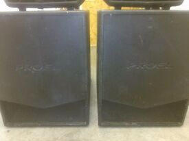 Pair Proel Flash 15SA Active 500w subs
