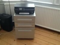 Small Silver Filing Cabinet