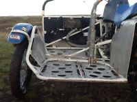 Motorbike motocross sidecar