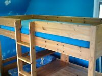 Bed: Stompa High Sleeper with guest bed & desk