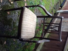 Old Wooden Table and 6 Chairs