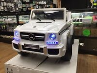 MERCEDES G63 KIDS RIDE ON ELECTRIC REMOTE CONTROL CAR BRAND NEW AGES 3 TO 5