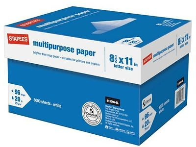 New Staples Multipurpose Copy Printing Paper 10-ream Case 5000 Sheets Sealed