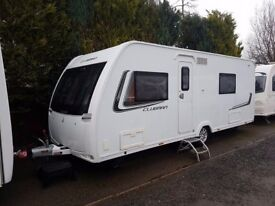 2014 Lunar Clubman SE 4 Berth caravan FIXED BED, MOTOR MOVER, Bargain !!!
