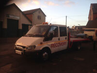 ford transit recovery truck crew cab beavertail 03 plate crew cab ramsey winch 2.4