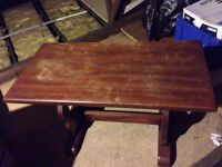 Old Solid Oak Coffee Table