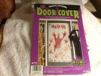 Door Cover-Indoor and Outdoor - Durable Plastic - 30 x 60 in - Halloween Blowout