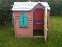 FREE DELIVERY LITTLE TIKES TYKES PLAY WENDY HOUSE PLAYHOUSE COUNTRY COTTAGE PINK COOKER TOY KITCHEN