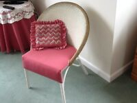 Lloyd Loom Style Chair, cushion included. Excellent condition
