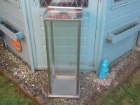 Outdoor or indoor glass & stainless steel lantern