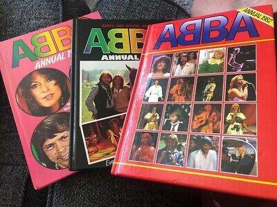 3 x ABBA Annuals 1979, 1980 & 1982