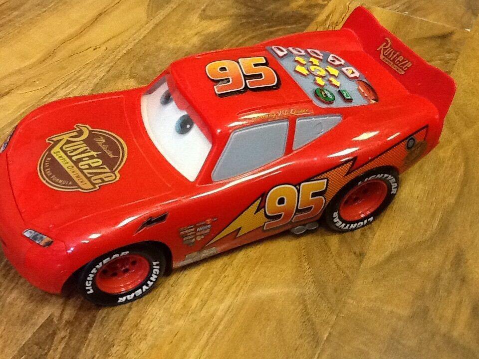 DISNEY CARS - FAST TALKING Lightning McQueen Program & Go Car -Rare ...