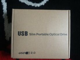 USB Slim Portable Optical Drive CD/ DVD Rewritable