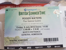 1 x General admission ticket for Roger Waters at Hyde Park - 6th July