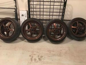 """Tires and 19 """" rims for sale  (staggered)"""